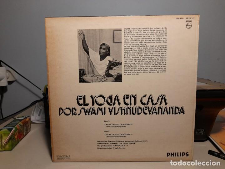 Discos de vinilo: LP EL YOGA EN CASA POR SWAMI VISHNUDEVANANDA ( VOZ EN ESPAÑOL: FRANCISCO VALLADARES ) - Foto 2 - 266973434