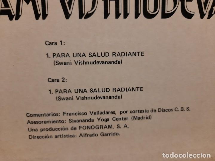 Discos de vinilo: LP EL YOGA EN CASA POR SWAMI VISHNUDEVANANDA ( VOZ EN ESPAÑOL: FRANCISCO VALLADARES ) - Foto 4 - 266973434