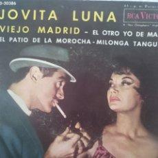 """Discos de vinilo: JOVITA LUNA * CANCIONES DE LA COMEDIA MUSICAL """" EL OTRO YO DE MARCELA"""""""". Lote 267000469"""