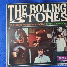 Disques de vinyle: VINILO THE ROLLING STONES. 2000 LIGHT YEARS FROM HOME. SHES A RAINBOW. Lote 267039019