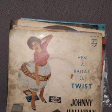 Discos de vinilo: JOHNNY HALLYDAY : VEN A BAILAR EL TWIST, PHILIPS 1961 ED ESPAÑA. Lote 267054514