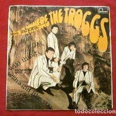 Discos de vinilo: THE TROGGS ( EP. FRANCE 1966) WITH A GIRL LIKE YOU - JINGLE JANGLE - I WANT YOU (FUNDA ED. SPAIN). Lote 267068319