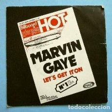 Discos de vinilo: MARVIN GAYE (SINGLE 1973) LET'S GET IT ON - I WISH IT WOULD RAIN - TAMLA MOTOWN. Lote 267077059