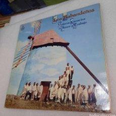 Disques de vinyle: LOS SABANDEÑOS - BOLEROS CANARIOS DE AMOR Y TRABAJO. Lote 267080469
