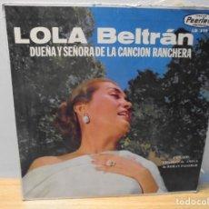 Discos de vinilo: LOLA BELTRAN DUEÑA Y SEÑORA DE LA CANCION RANCHERA. DISCOS PEERLESS. LP VINILO.. Lote 267083994
