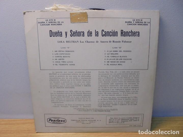 Discos de vinilo: LOLA BELTRAN DUEÑA Y SEÑORA DE LA CANCION RANCHERA. DISCOS PEERLESS. LP VINILO. - Foto 10 - 267083994