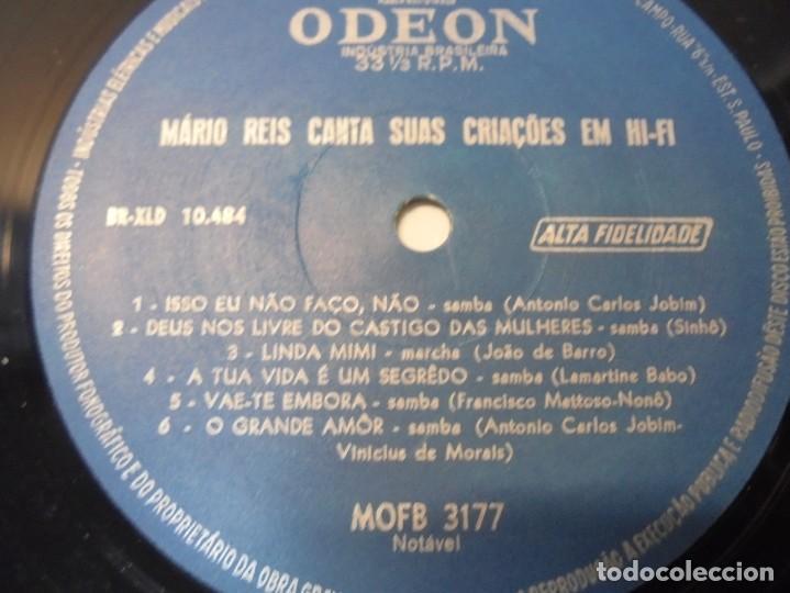 Discos de vinilo: MARIO REIS CANTA SUAS CRIACOES EM HI-FI. LP VINILO. DISCOGRAFICA ODEON. - Foto 4 - 267084679