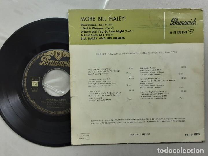 Discos de vinilo: EP BILL HALEY & HIS COMETS, CHARMAINE, I GOT A WOMAN, A FOOL SUCH AS I +1 - Foto 2 - 267099829