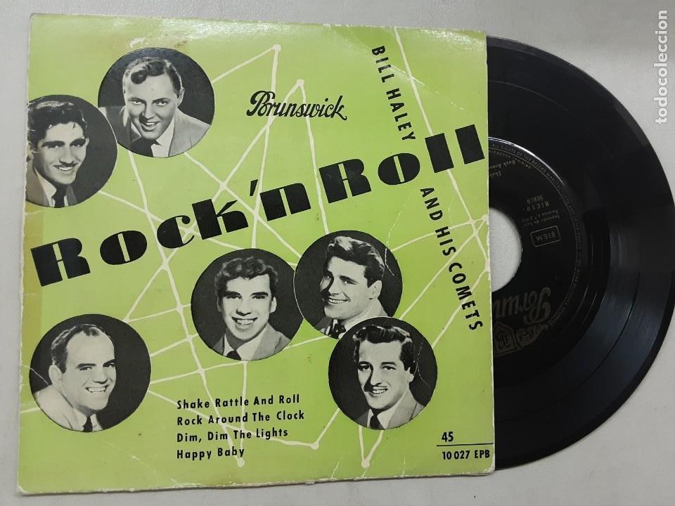 EP BILL HALEY & HIS COMETS, SHAKE RATTLE AND ROLL, ROCK AROUND TE CLOCK, HAPPY BABY +1 (Música - Discos de Vinilo - EPs - Rock & Roll)