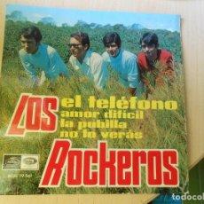 Discos de vinil: ROCKEROS, LOS, EP, EL TELÉFONO + 3, AÑO 1967. Lote 267103939