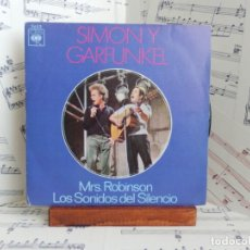 Discos de vinilo: SIMON & GARFUNKEL - MRS ROBINSON. Lote 267140199