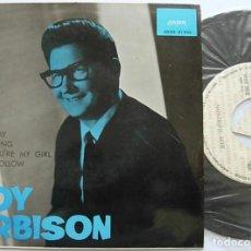 Discos de vinil: ROY ORBISON SPAIN EP 1965 RIDE AWAY+3 LONDON SDGE 81046 PROMO MUY RARO !!. Lote 267169939