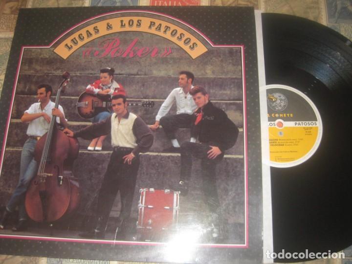 LUCAS Y LOS PATOSOS - POKER ( EL COHETE RECORDS 1989) OG ESPAÑA EL PELUCAS AND COMPANY (Música - Discos - LP Vinilo - Rock & Roll)