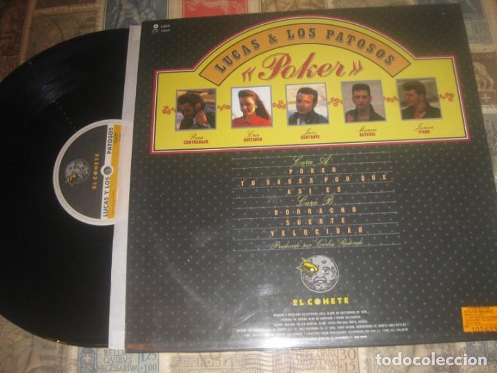 Discos de vinilo: LUCAS Y LOS PATOSOS - POKER ( EL COHETE RECORDS 1989) OG españa el pelucas AND company - Foto 2 - 267175899