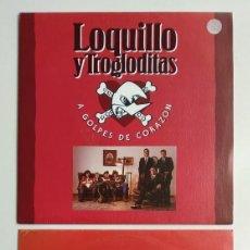 Discos de vinilo: LOTE SINGLES - LOQUILLO Y TROGLODITAS : A GOLPES DE CORAZON (1992) + HOMBRES (1991). Lote 267182744