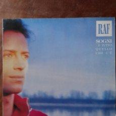 Disques de vinyle: RAF, ...É TUTTO QUELLO CHE C'É. Lote 267189539