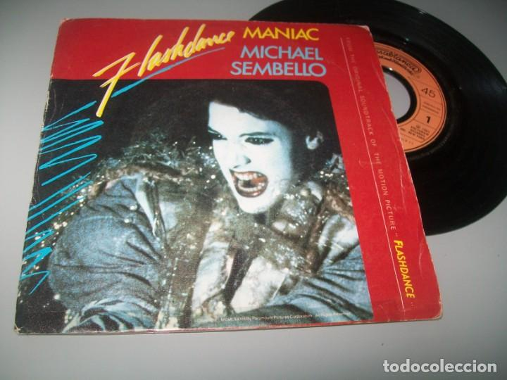 MICHAEL SEMBELLO - FLASHDANCE - MANIAC ...SINGLE DE 1983 - B,S.O - CASABLANCA - (Música - Discos - Singles Vinilo - Bandas Sonoras y Actores)
