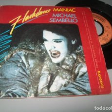 Disques de vinyle: MICHAEL SEMBELLO - FLASHDANCE - MANIAC ...SINGLE DE 1983 - B,S.O - CASABLANCA -. Lote 267208369