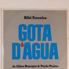Discos de vinilo: BIBI FERREIRA. OS MELHORES MOMENTOS DE GOTA D'AGUA. 1977 BRASIL. 103.0212. VG++. VG++.. Lote 267246219