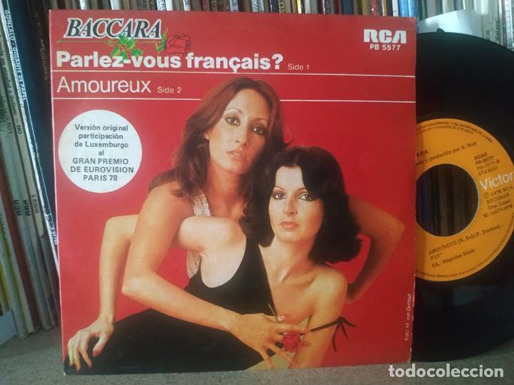 BACCARA PARLEZ VOUS FRANCAIS? LUXEMBURGO 1978 EUROVISION (Música - Discos - Singles Vinilo - Festival de Eurovisión)