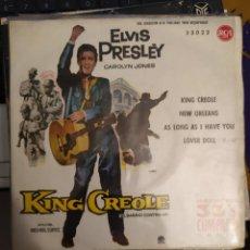 Discos de vinilo: ELVIS PRESLEY: CAROLYN JONES: KING CREOLE, EL BARRIO CONTRA MI ED ESPAÑA RCA 1961. Lote 267258049
