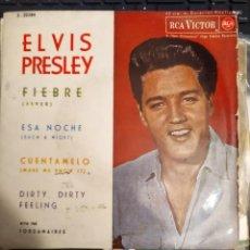 Discos de vinilo: ELVIS PRESLEY: FIEBRE, ESA NOCHE + 2 WITH THE JORDANAIRES ED ESPAÑA RCA 1962. Lote 267258659