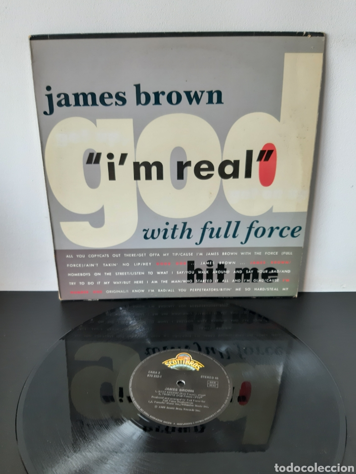 JAMES BROWN. I'M THE REAL. 1988. MAXI. SPAIN (Música - Discos de Vinilo - Maxi Singles - Jazz, Jazz-Rock, Blues y R&B)
