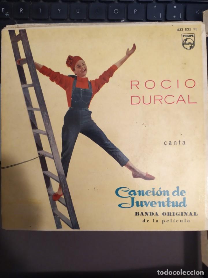 Discos de vinilo: LOTE 2 EPS ROCIO DURCAL CANTA CANCION DE JUVENTUD , BANDA SONORA ORIGINAL - Foto 2 - 267264489