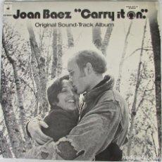Discos de vinilo: LP JOAN BAEZ. CARRY IT ON. ORIGINAL SOUND TRACK ALBUM. 1972. Lote 267272679