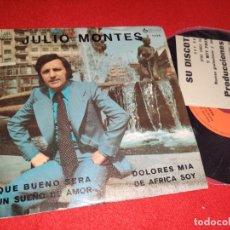 """Discos de vinilo: JULIO MONTES DE AFRICA SOY / DOLORES MIA ..+2 7"""" EP 1976 SPOT HAMMOND JAZZY GROOVY RARO!!. Lote 267275804"""