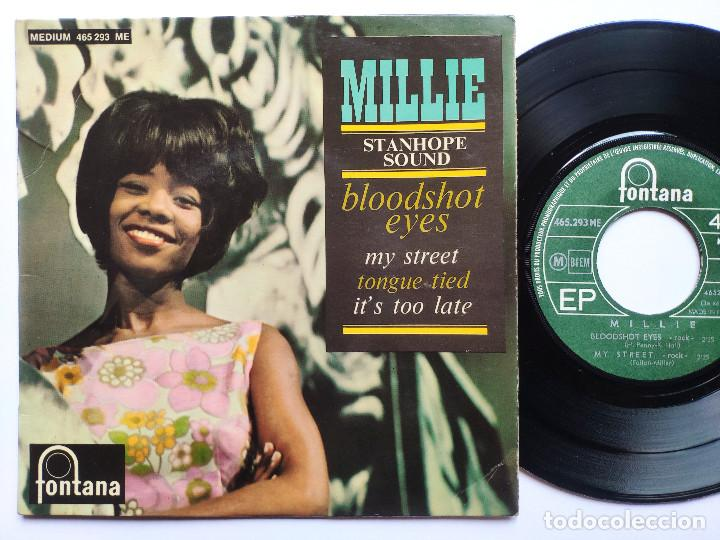 MILLIE - EP FRANCE PS - MINT * BOODSHOT EYES / MY STREET / TONGUE TIED / IT'S TOO LATE * 1965 (Música - Discos de Vinilo - EPs - Reggae - Ska)