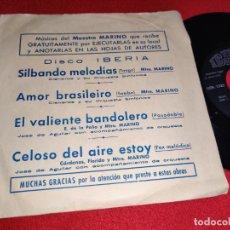 Discos de vinilo: CISNEROS Y SU ORQUESTA SINFONICA SILBANDO MELODIAS/AMOR BRASILEIRO +2 EP 1972 IBERIA PROMO. Lote 267276459