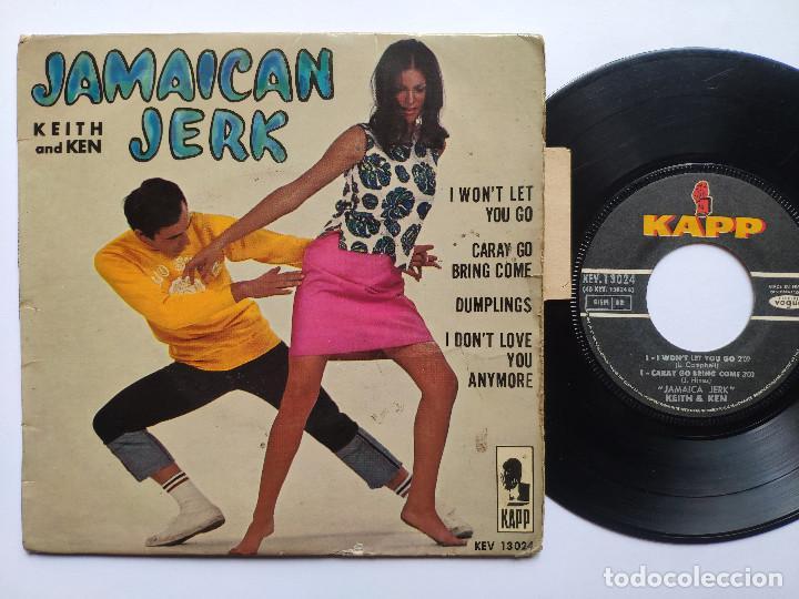 KEITH & KEN * EP FRANCE PS * JAMAICA JERK * I WON' T LET YOU GO / CARAY GO BRING COME + 2 * 1966 (Música - Discos de Vinilo - EPs - Reggae - Ska)