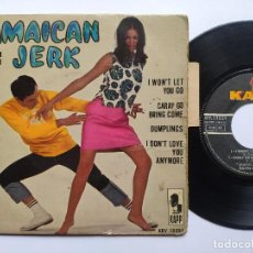 Discos de vinilo: KEITH & KEN * EP FRANCE PS * JAMAICA JERK * I WON' T LET YOU GO / CARAY GO BRING COME + 2 * 1966. Lote 267276509