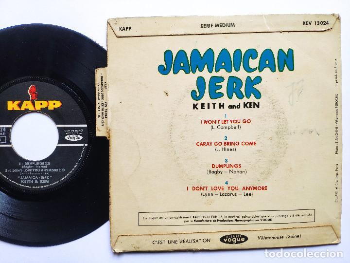 Discos de vinilo: KEITH & KEN * EP France PS * JAMAICA JERK * I WON T LET YOU GO / CARAY GO BRING COME + 2 * 1966 - Foto 2 - 267276509