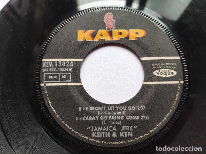 Discos de vinilo: KEITH & KEN * EP France PS * JAMAICA JERK * I WON T LET YOU GO / CARAY GO BRING COME + 2 * 1966 - Foto 3 - 267276509