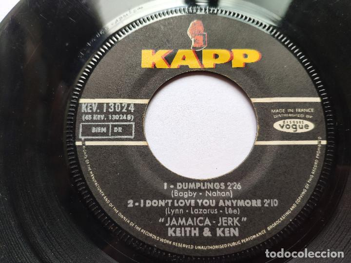 Discos de vinilo: KEITH & KEN * EP France PS * JAMAICA JERK * I WON T LET YOU GO / CARAY GO BRING COME + 2 * 1966 - Foto 4 - 267276509