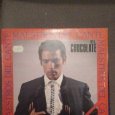 Discos de vinilo: MAESTROS DEL CANTE EL CHOCOLATE, HISPAVOX 1987 GRABACIONES HISTORICAS TARANTOS SIGUIRIYAS FANDANGOS.. Lote 267277149