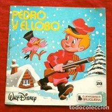 Disques de vinyle: PEDRO Y EL LOBO (SINGLE 1977) CUENTODISCO BRUGUERA - DISNEYLAND - DIR. EDMUNDO SANTOS - DISNEY. Lote 267290134