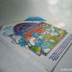 Discos de vinilo: EL GRAN LIBRO DE LOS JUEGOS PITUFOS. INCLUYE VINILO. Lote 267314754