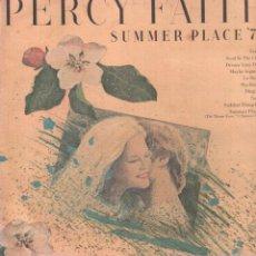 Discos de vinilo: PERCY FAITH - SUMMER PLACE '76 / LP DBS DE 1975 / BUEN ESTADO RF-9643. Lote 267335519