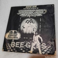 Disques de vinyle: BEE GEES - STAYIN' ALIVE. Lote 267352474