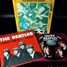 Discos de vinilo: LOTE 3 LP DE THE BEATLES (THE BRITISH ARE COMING -3D ED. LIMITADA- / THINGS WE SAID TODAY/ SILVER B. Lote 267399914