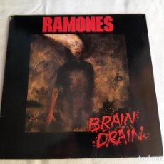 Disques de vinyle: RAMONES -BRAIN DRAIN- (1989) LP DISCO VINILO. Lote 267406979