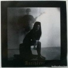 Discos de vinilo: ANTIHÉROE. CURRA/ REGRESO/ PAMOLIVE VERSIÓN/ GRUPOS DE PLÁSTICO. NO SE, SPAIN 1990 EP + ENCARTES. Lote 267414014