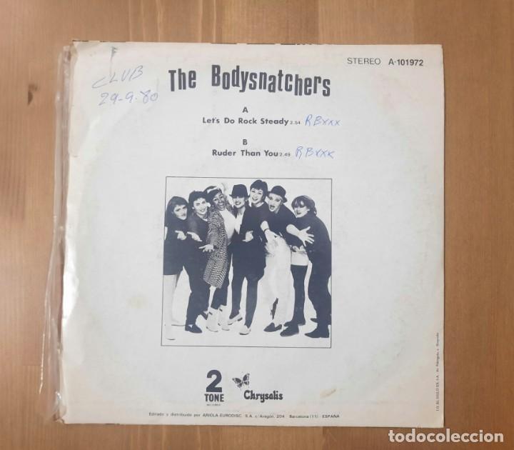 Discos de vinilo: THE BODYSNATCHERS - LETS DO ROCK STEADY - SINGLE SPAIN SKA 1980 PORTADA UNICA RARO - Foto 2 - 267417859