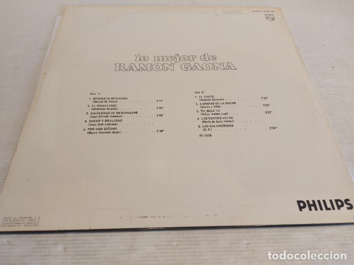 Discos de vinilo: LO MEJOR DE RAMON GAONA / LP - PHILIPS-1976 / MBC. ***/*** - Foto 2 - 267452759