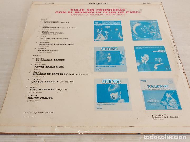 Discos de vinilo: VIAJE SIN FRONTERAS CON EL MANDOLIN CLUB DE PARIS / LP - VERGARA-1970 / MBC. ***/*** - Foto 2 - 267455039