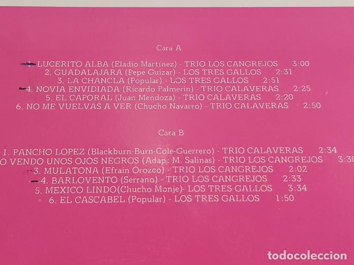 Discos de vinilo: TRIO CALAVERAS-TRIO LOS CANGREJOS-LOS TRES GALLOS / LP-COBRA-1978 / MBC. ***/*** - Foto 3 - 267455454