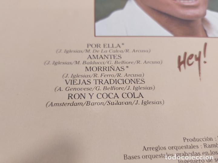 Discos de vinilo: JULIO IGLESIAS / HEY / LP - CBS-1980 / MBC. ***/*** - Foto 3 - 267457349